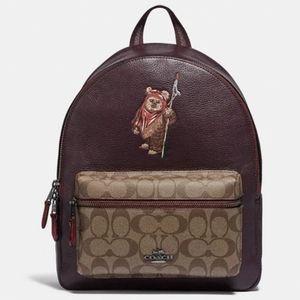 Star Wars X Coach Medium Charlie Backpack w/Ewok